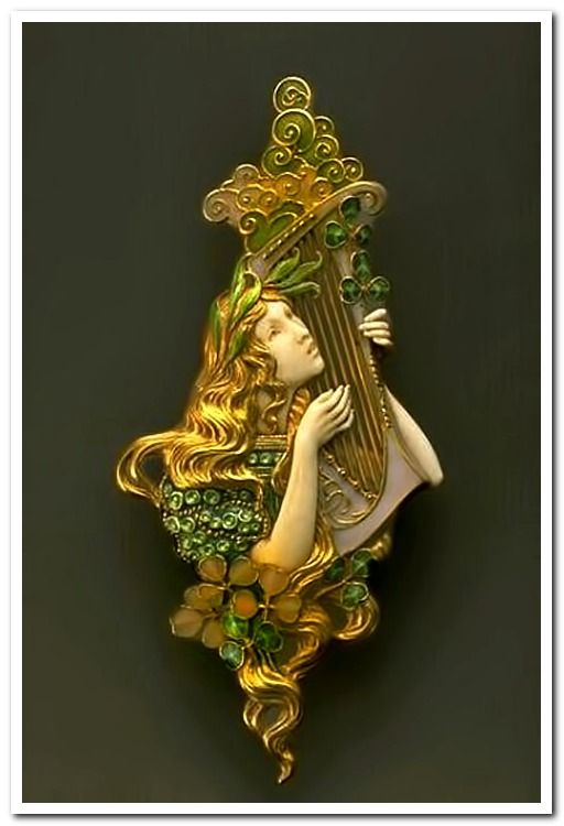 """""""Poetry"""" brooche by Eugène Grasset for the house Henri Vever"""