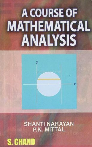 A Course Of Mathematical Analysis by Shanti Narayan Download A