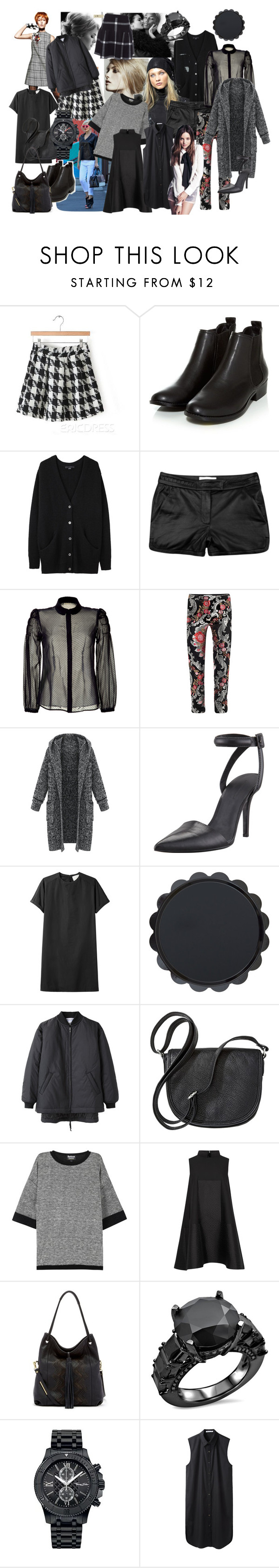 """B l a c k M o d"" by julietv ❤ liked on Polyvore featuring Alexander Wang, Ralph Lauren, A.L.C., RED Valentino, Osman, 3.1 Phillip Lim, Merona, Barbour International, Alexander McQueen and Ella Moss"