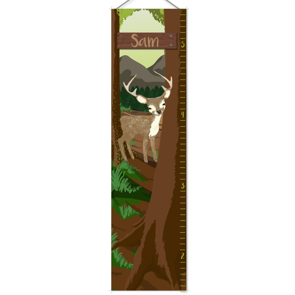 Personalized forest deer growth chart tammys board pinterest personalized forest deer growth chart geenschuldenfo Choice Image