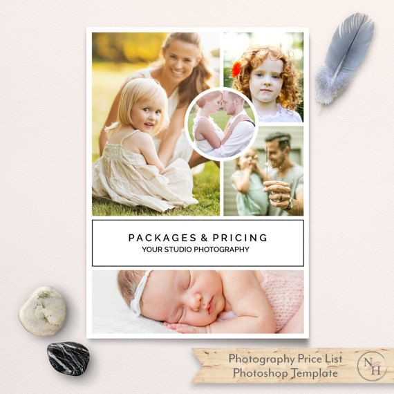 Photography Price List Template, Pricing List, Pricing Guide, Sell