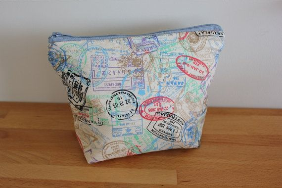 Rustic Beige Intrepid Traveller Pencil Case by ButtonsLaceWhimsy, $22.50