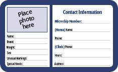 Free Pet Id Cards Pet Id Animal Free Id Card Template
