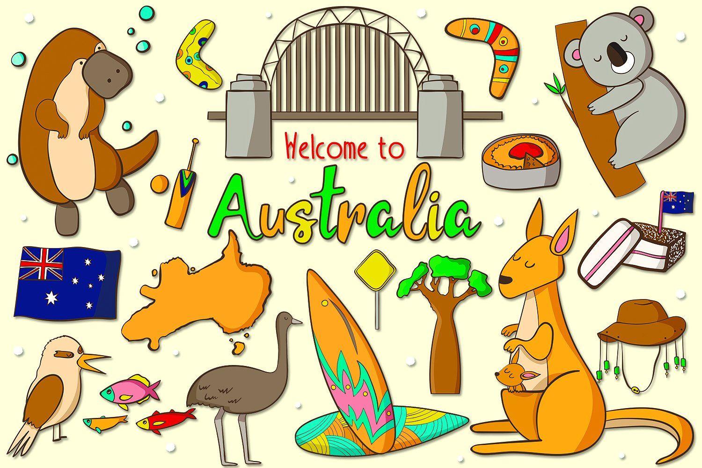 to Australia by clipick on creativemarket