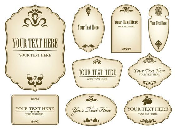 Free Decorative Label Templates Simple bottle label 01 - Vector - blank label template