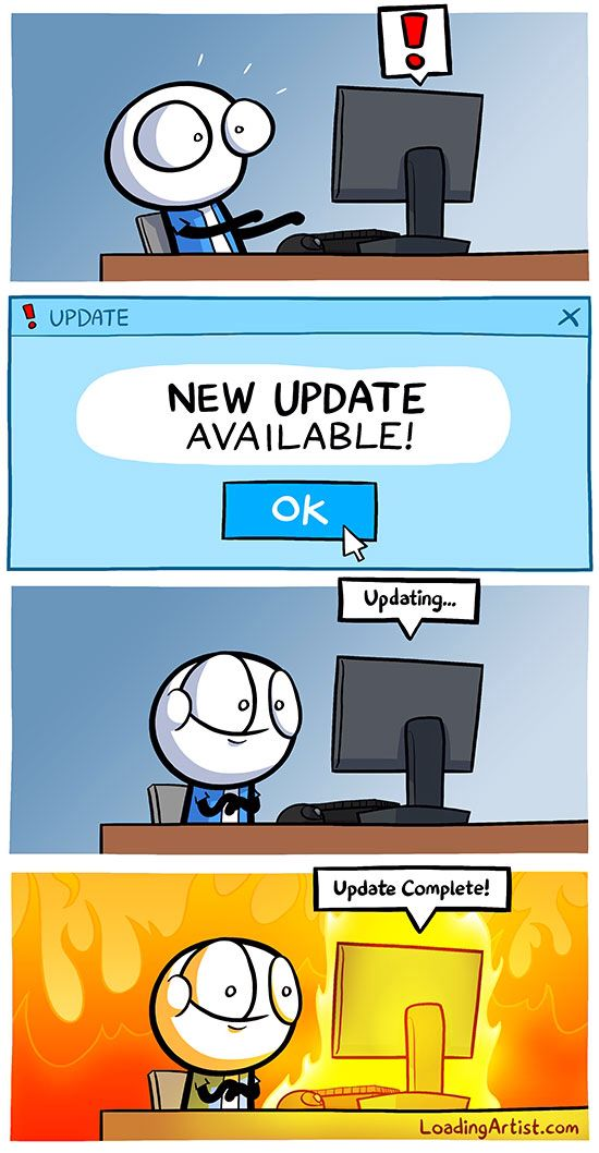 IOS update be like