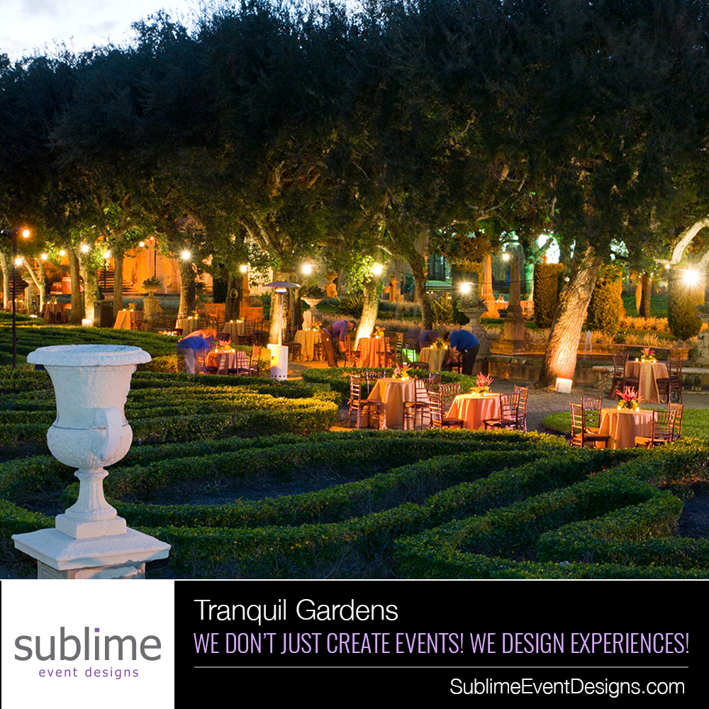 Tranquil Gardens | Event design, Miami and Gardens