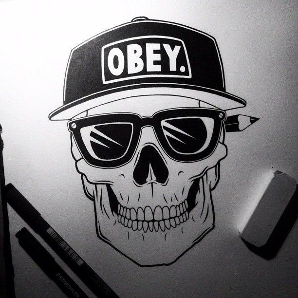 Skull Obey Skull Art Skull Graffiti Characters
