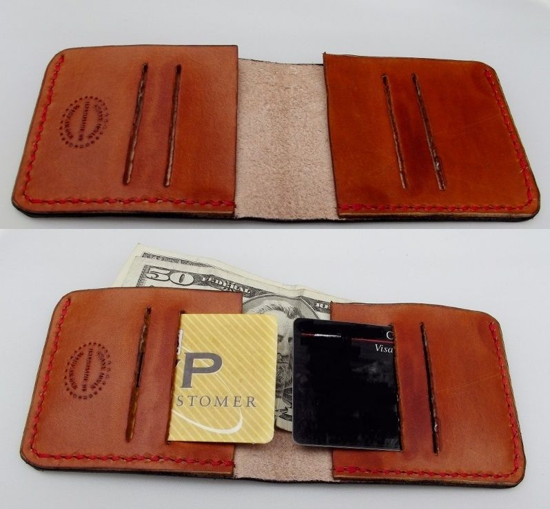 5249cf559ea3 Slim Minimalist Wallet. Front Pocket Wallet. Hand tooled ...