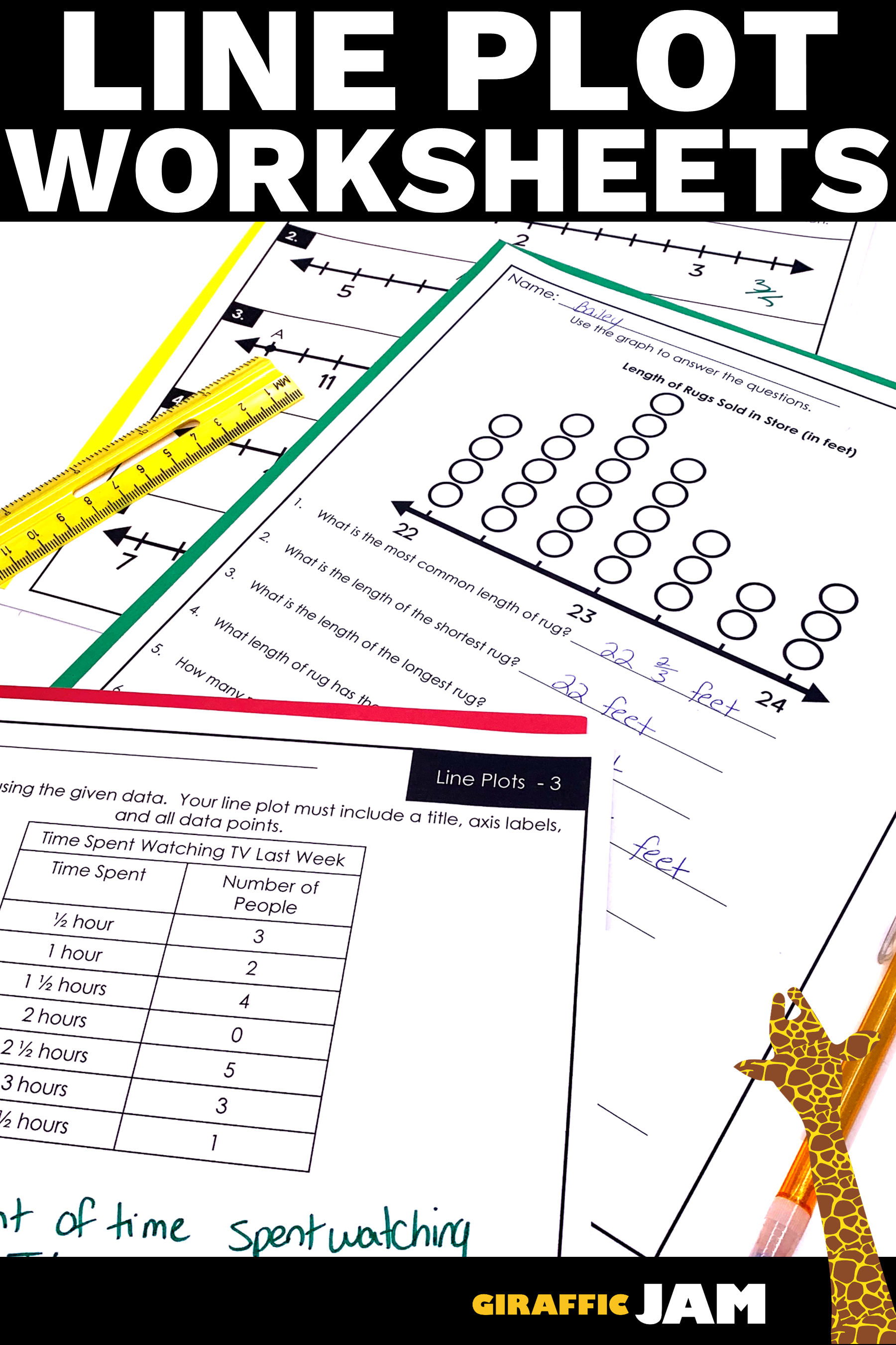 Line Plot Worksheets   Measurement Homework   Measurement Worksheets   Line  plot worksheets [ 2700 x 1800 Pixel ]