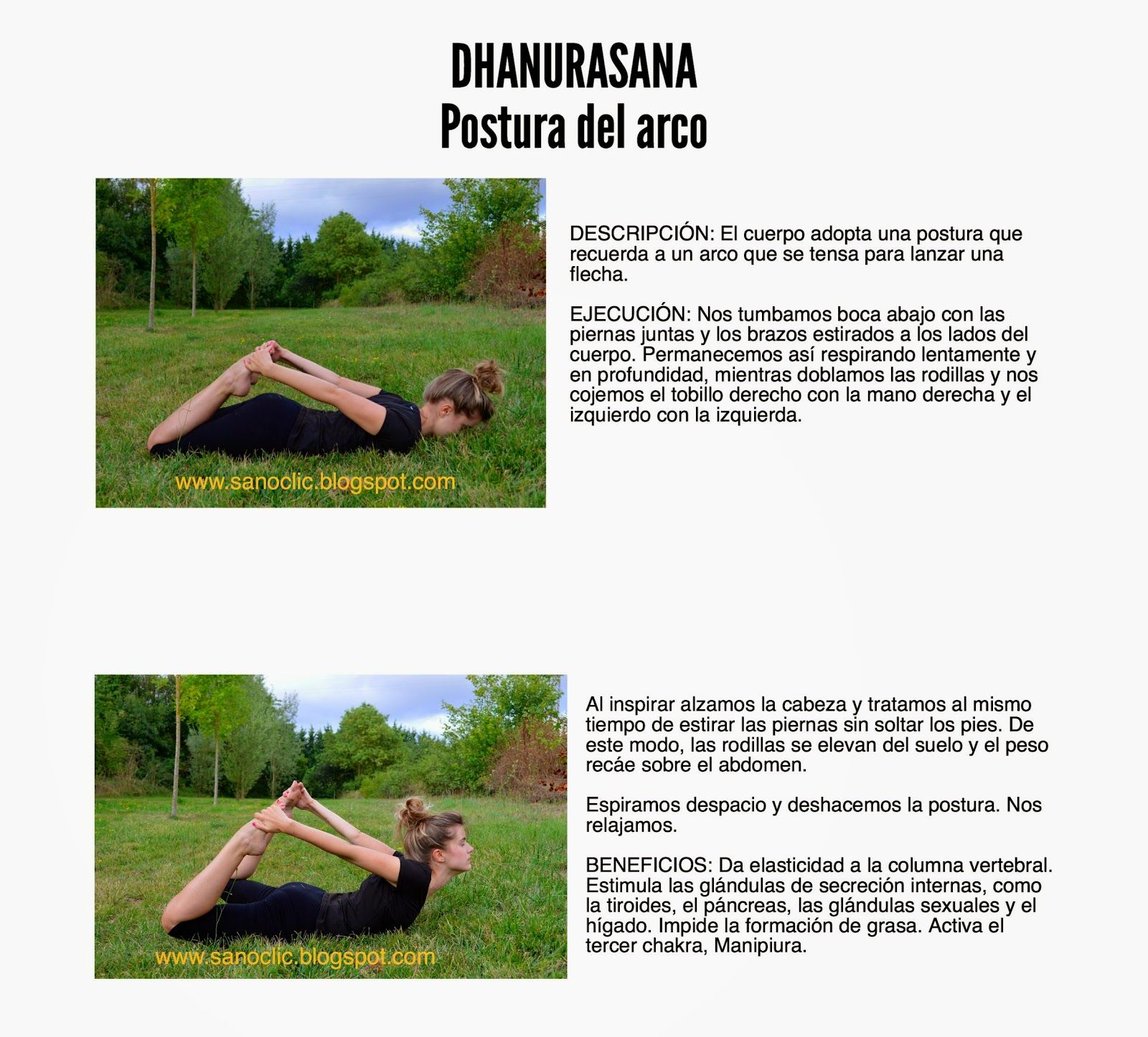 Infografía del yoga por Sanoclic