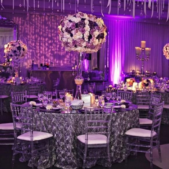 Eggplant And Red And Purple Wedding Ideas: Fantasy Purple Wedding #1983993