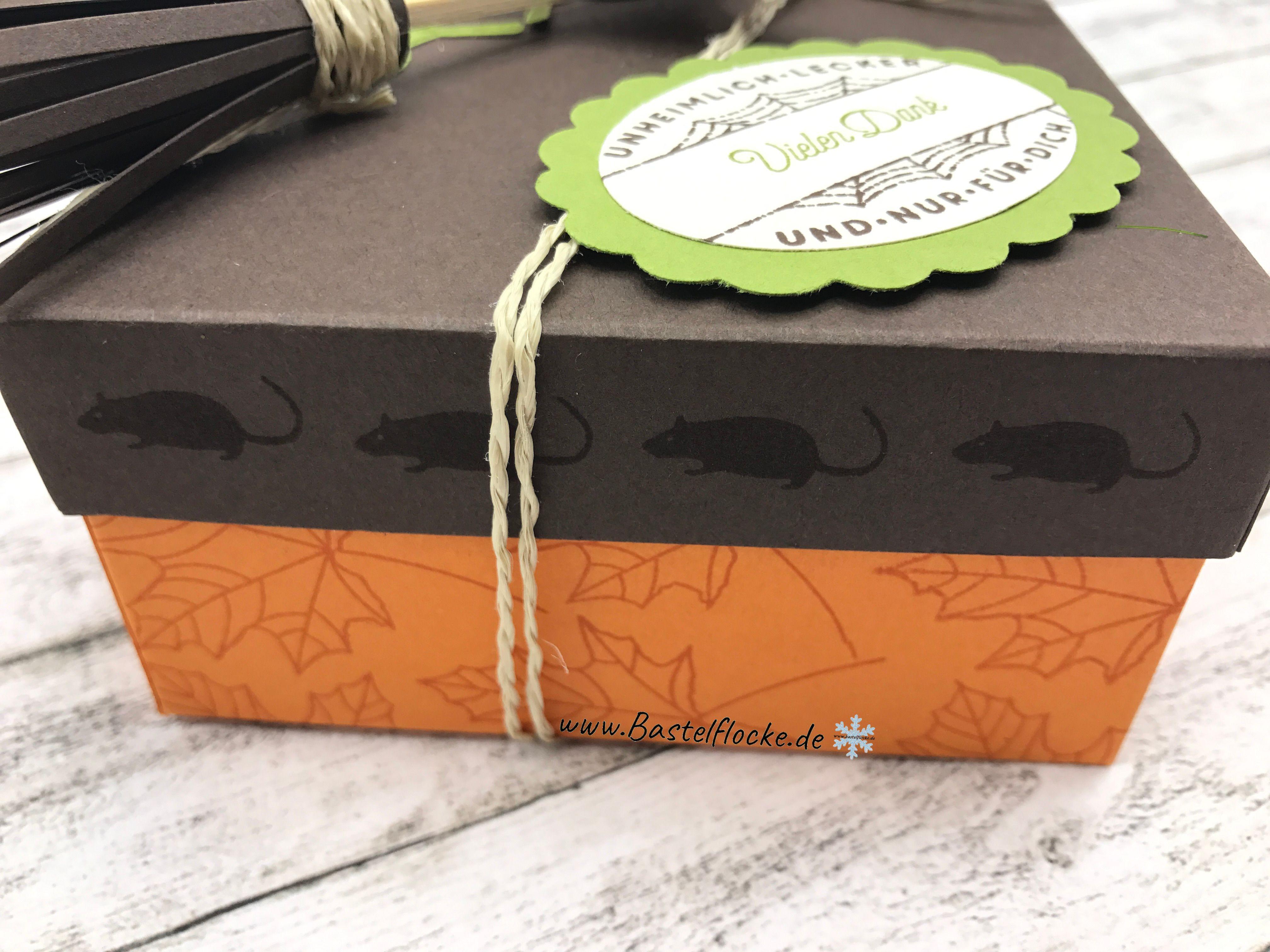 www.bastelflocke.de Schachtel mit Hexenbesen Stampinup