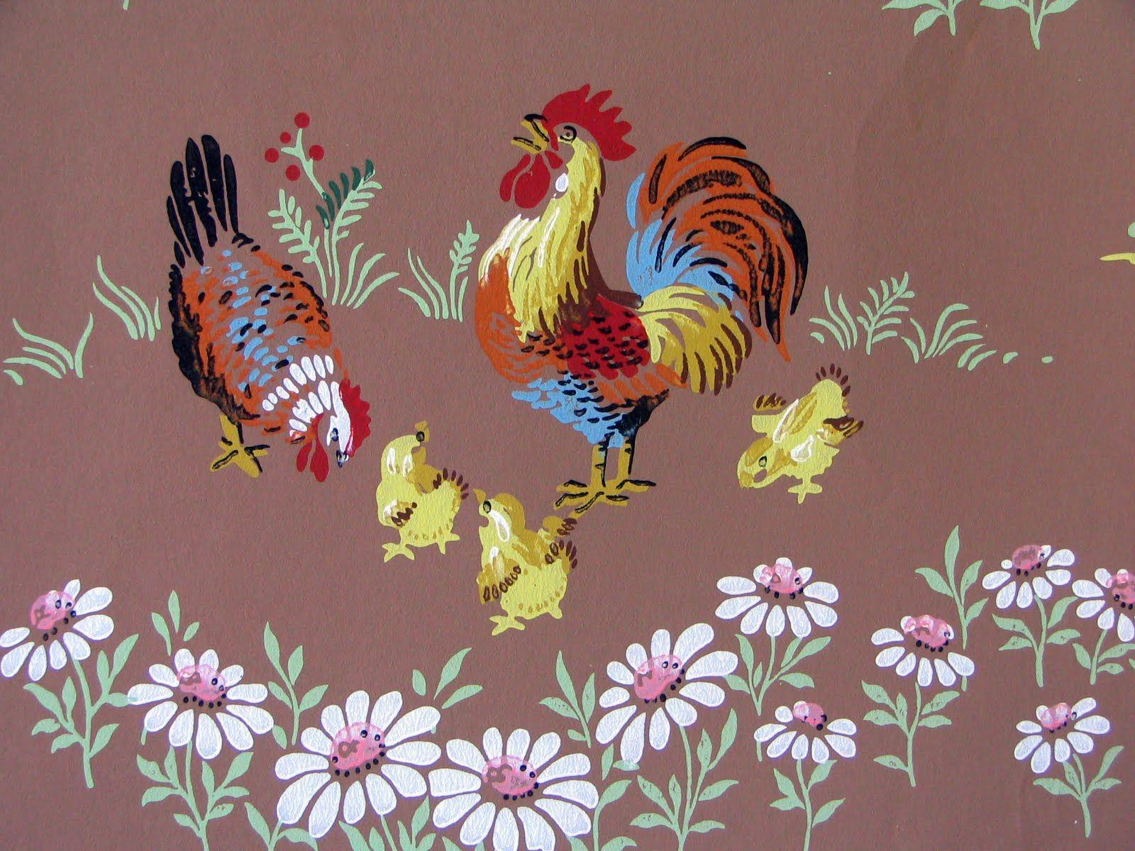 Kitchen wallpaper border  C Dianne Zweig  Kitsch un Stuff Vintage Wallpaper is Charming For