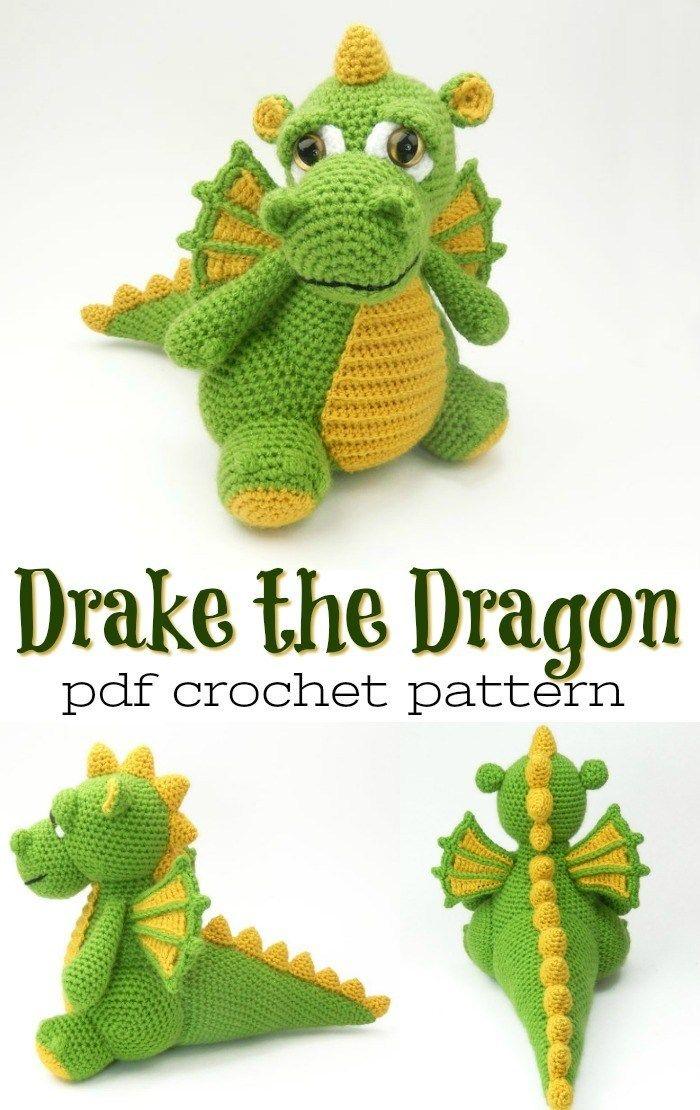 Dragon Amigurumi pattern by Mary Smith | Dragón de ganchillo ... | 1110x700