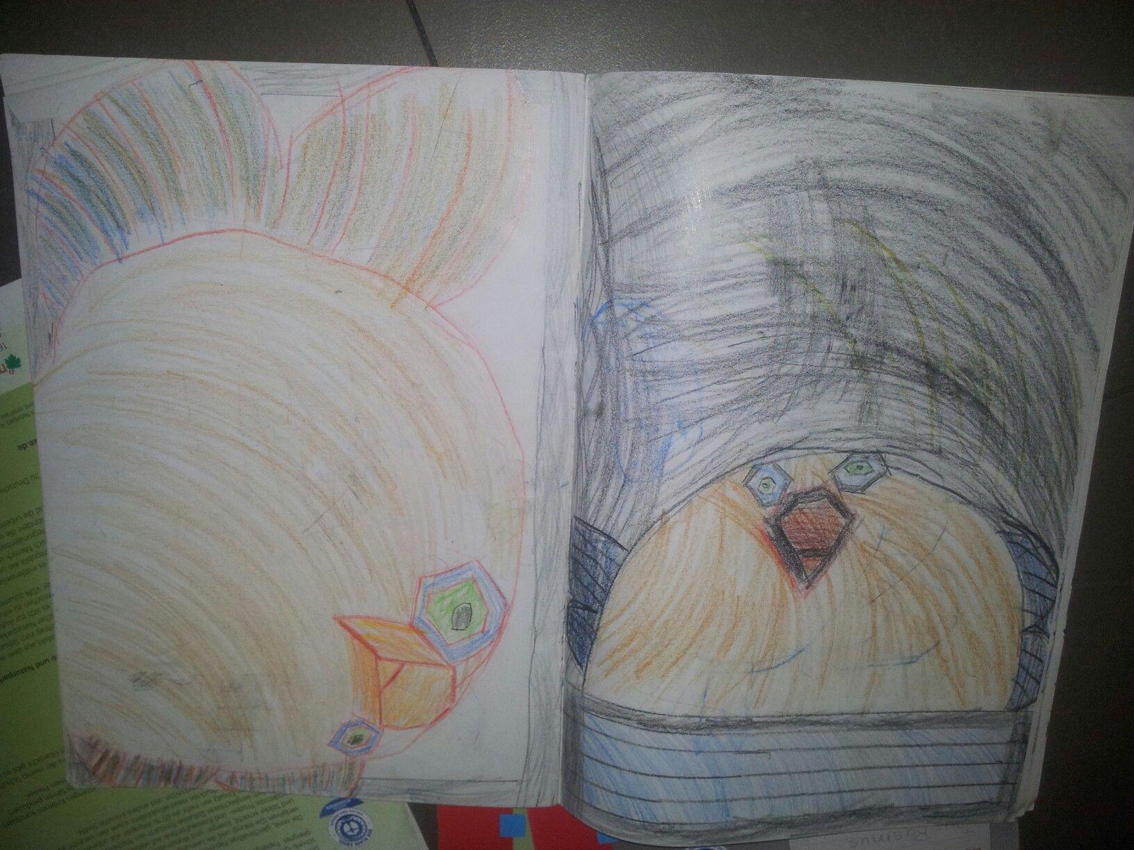 Vogel-Phantasie-Figur - gemalt mit 6 Jahren