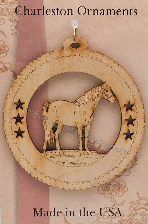 Custom Engraved Wooden Horse Ornament Horse Christmas Ornament