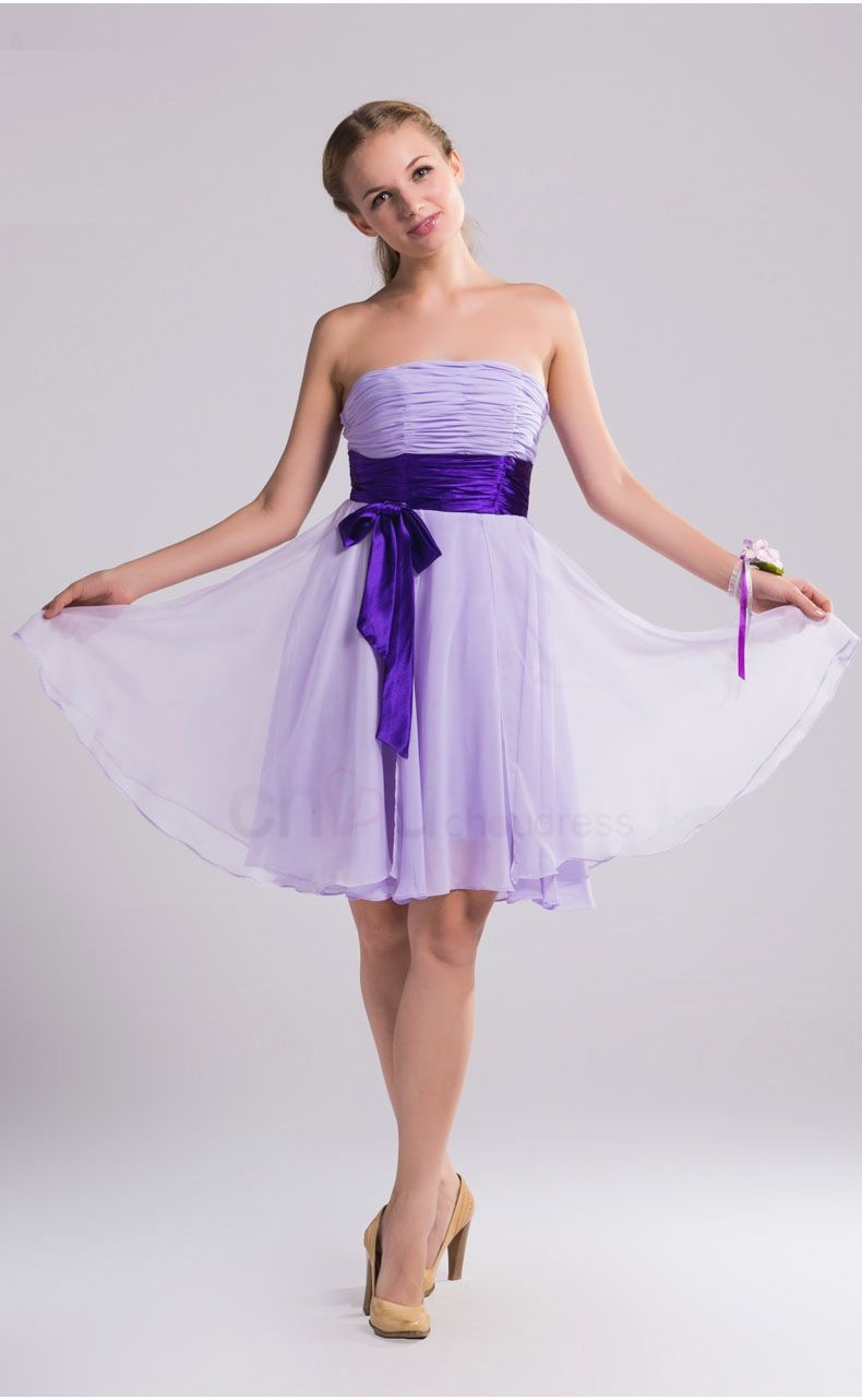 light purple bridesmaid dresses elegant short simple