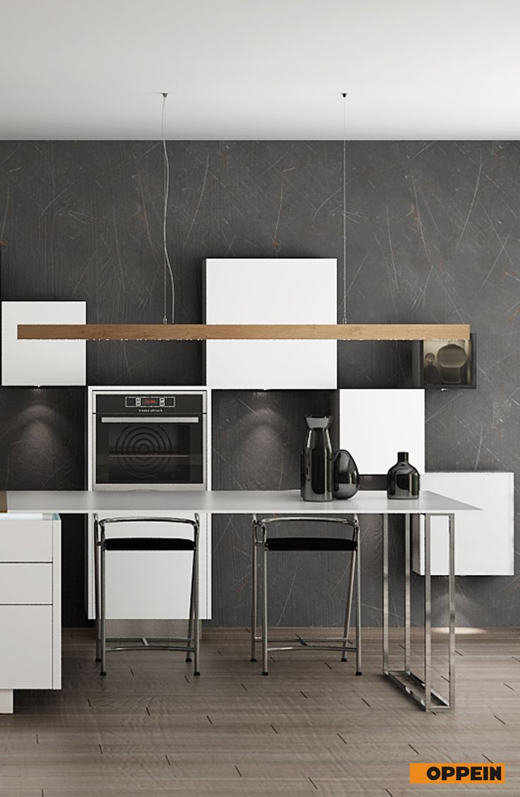 Modern White Wooden Kitchen Cabinet With Lacquer Finish