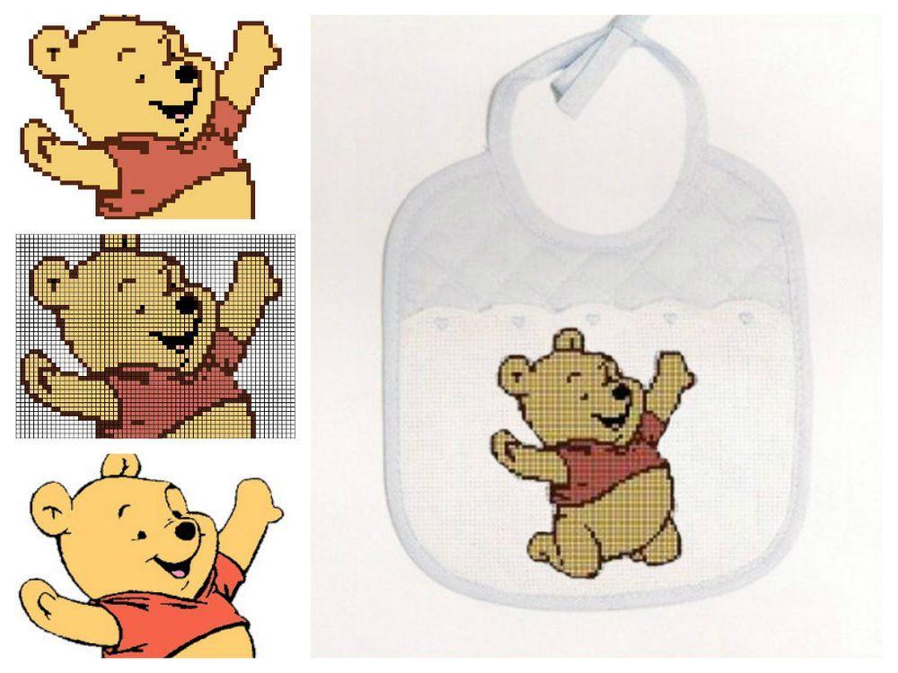 Schema schemi punto croce per bavaglino winnie the pooh for Schemi punto croce per bavaglini