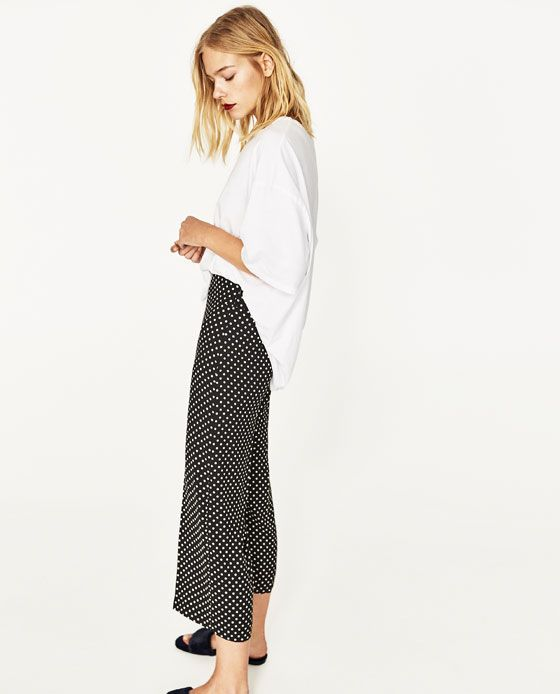 a4d1418a9957 Image 3 of POLKA DOT CULOTTES from Zara