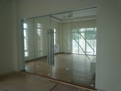Glass Double Door double door glass & exterior mahogany door with shades between glass