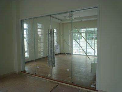 Glass Double Door double door glass & exterior mahogany door with shades between glass