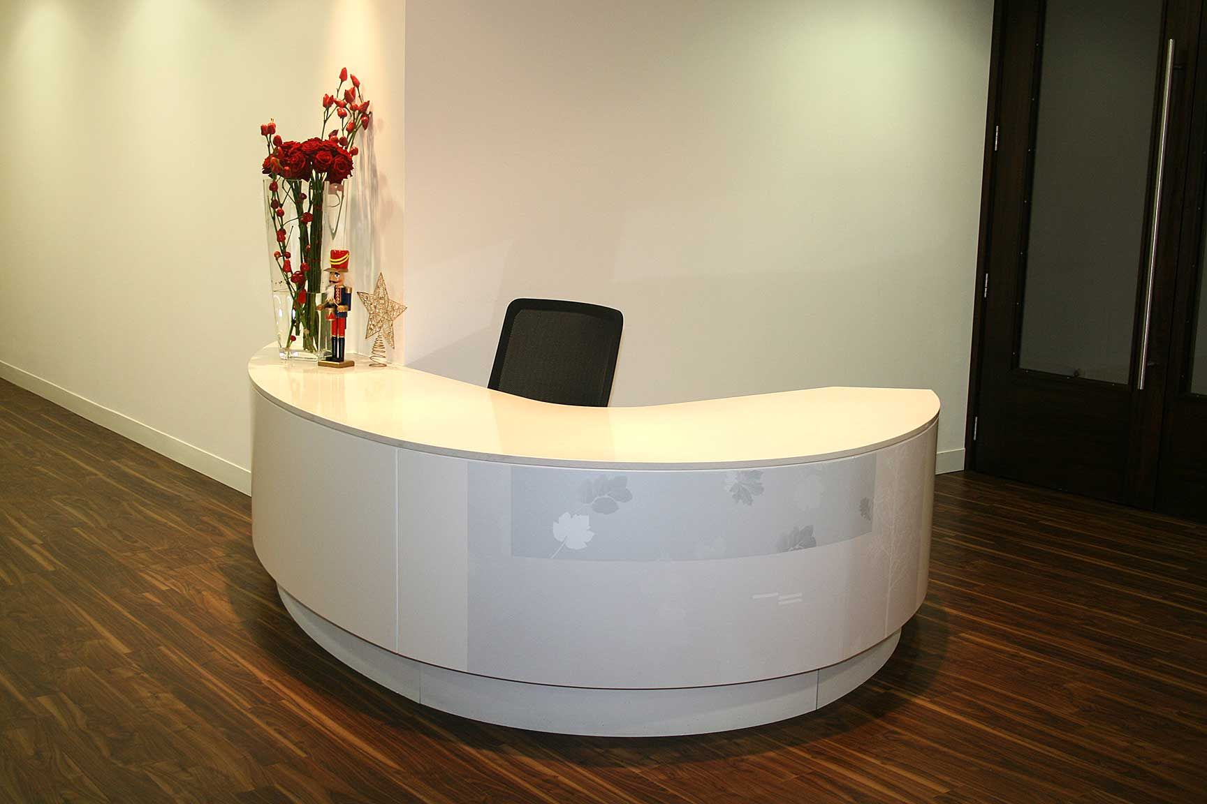 Curved Reception Desk. Image Of: White Curved Reception Desk