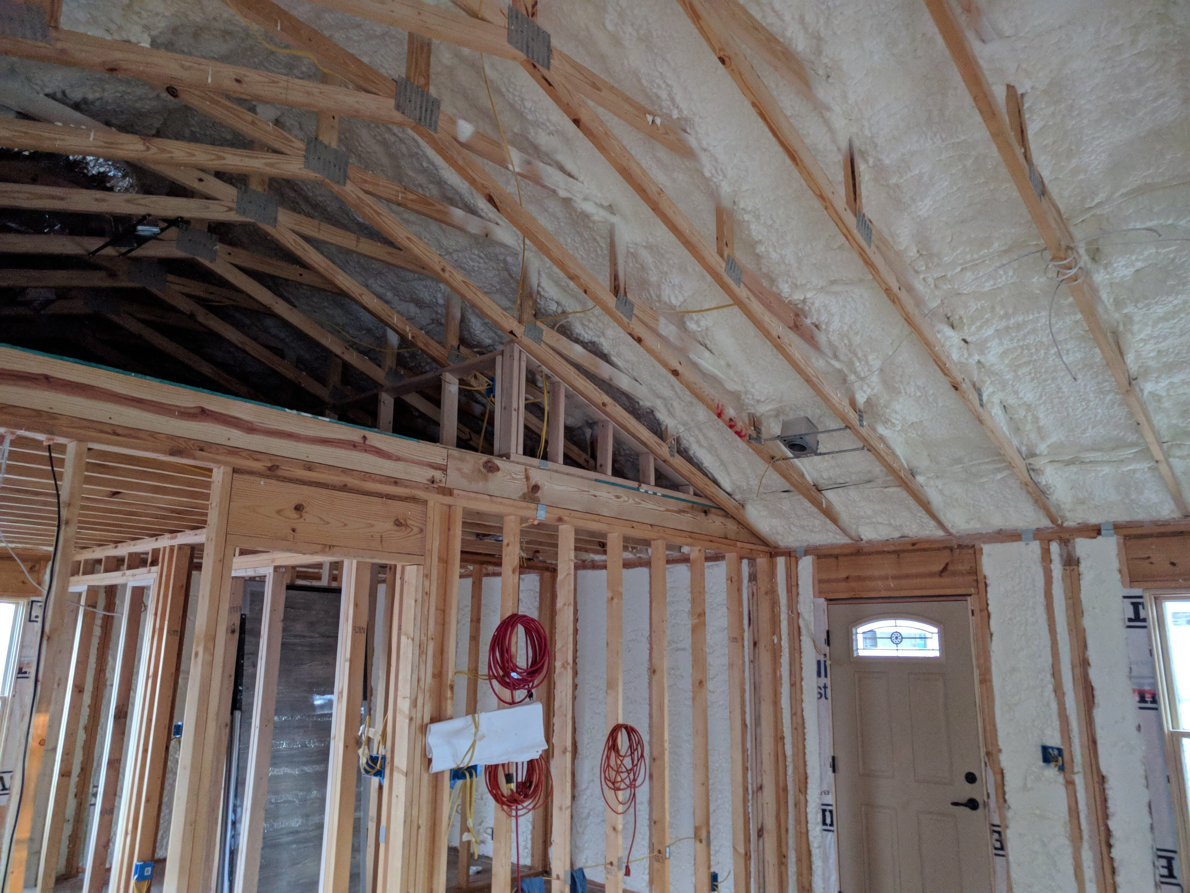 We Did Open Cell On The Roof And Walls And Closed Cell In A Crawlspace Another Job Well Done Sprayfoam Savemone Spray Foam Spray Foam Insulation Insulation