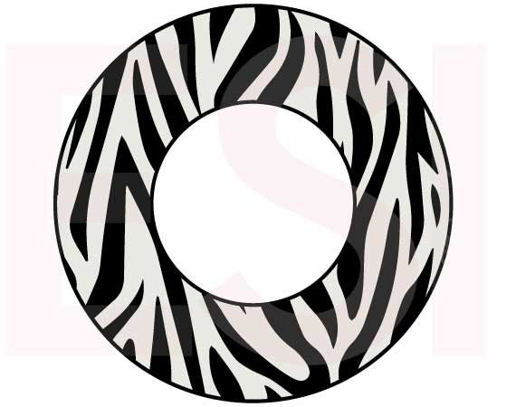 zebra print circle monogram frame digital cutting files