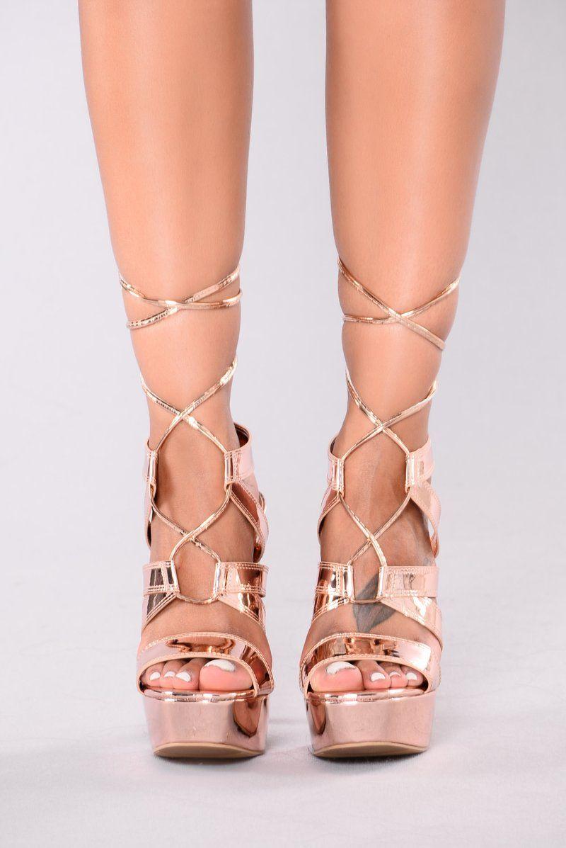 23fdaf51202 Last Forever Heel - Rose Gold | fashion nova | Heels, Gold heels, Shoes