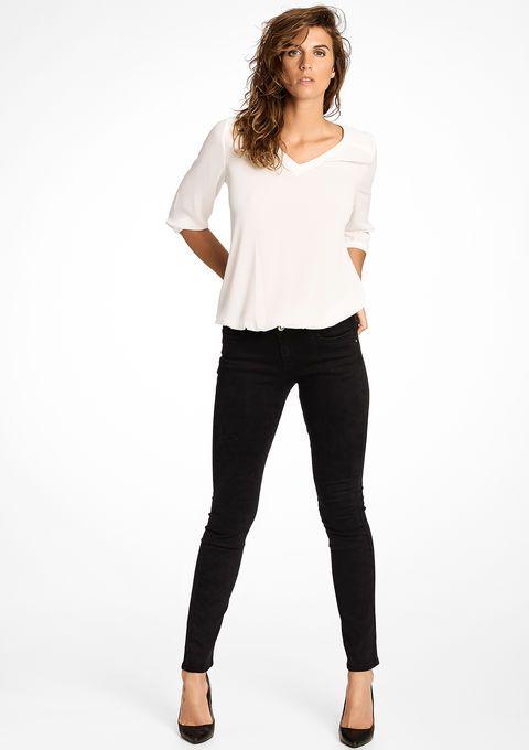 Slim broek met normale taille - BLACK - 06002604_1119