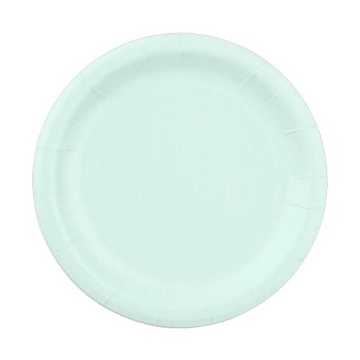 Custom Solid Light Mint Green Color 7 Inch Paper Plate  sc 1 st  Pinterest : light green paper plates - pezcame.com