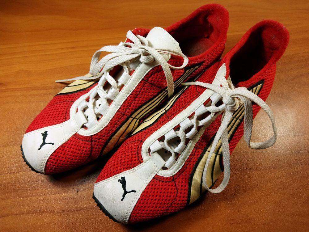 Puma H Street Running Men s Shoes Rare Vintage size 6.5 Red White Gold  de92b0506