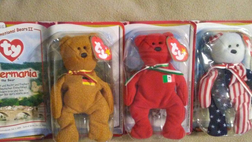 Mcdonalds Ty Teenie Beanie Babies International Bears II