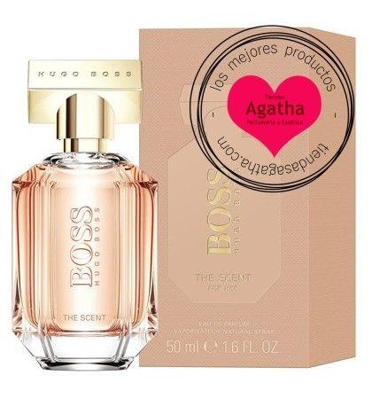 Hugo Boss The Scent for Her es el nuevo perfume femenino con una seductora mezcla de melocotón y miel, crea un aroma sensual para una mujer elegante, femenina y cálida a la vez.
