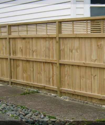 Pine Fence 1 7m with trellis top 350mm $135 per metre