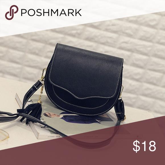 Tassel Shoulder PU Leather Handbags Women Messenger Bags Crossbody Purse Satchel