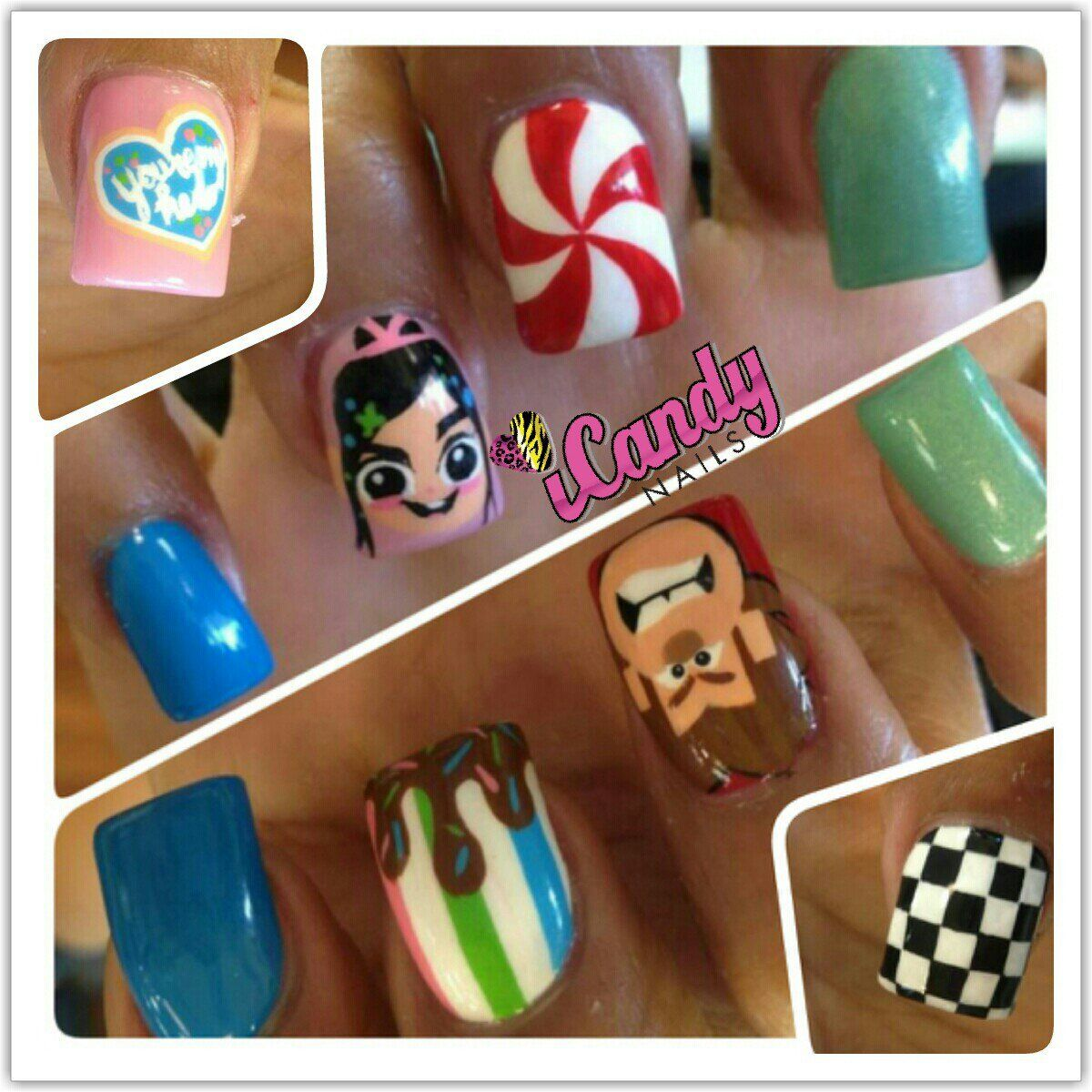 Wreck it ralph nail art pinterest disney nails nail nail and