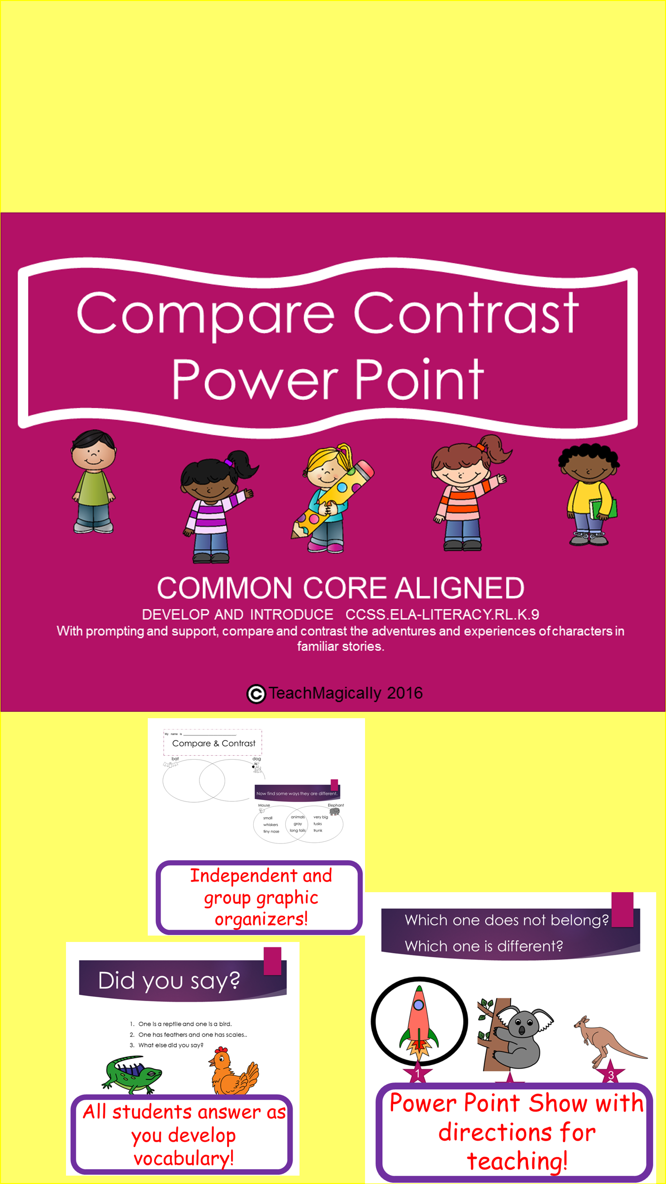 Compare and contrast teaching power point venn diagrams power compare contrast powerpoint to teach similarities and difference using direct explicit instruction venn diagrams pooptronica