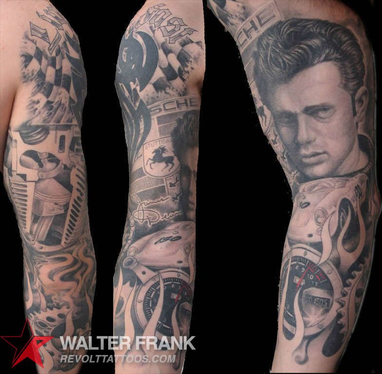 James dean porsche tattoo club tattoo full sleeve