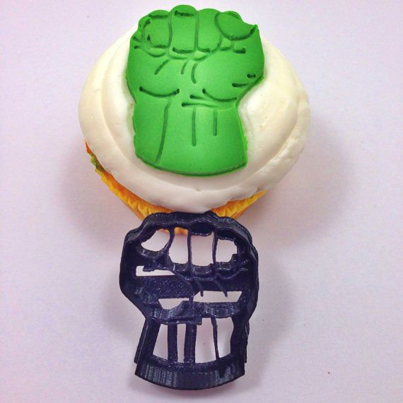 Hulk Hand 2 inch Fondant cutter 3D Printed by BoeTech on Etsy