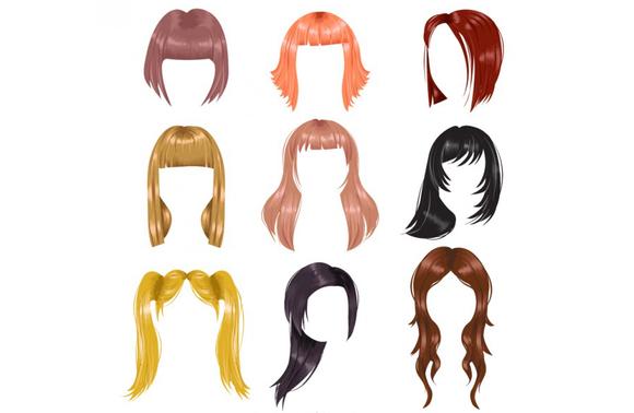 Картинки волосы для детей нарисованные