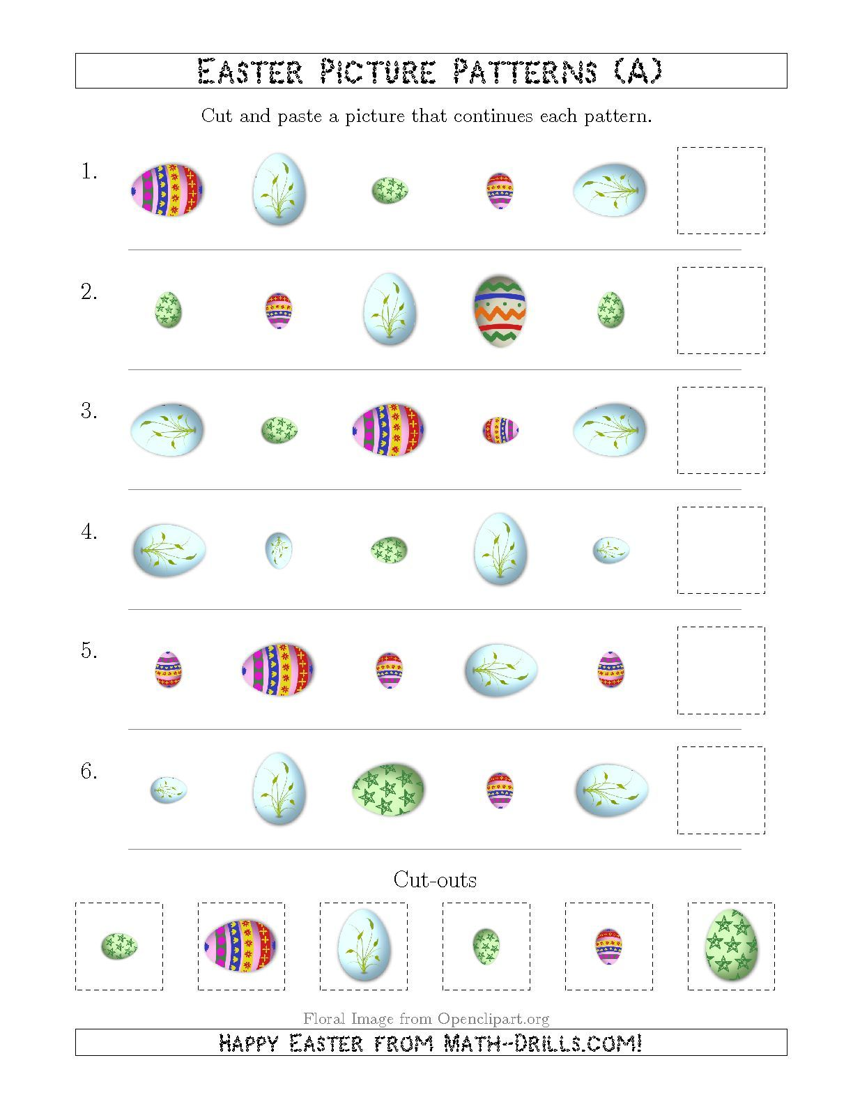 New Easter Egg Picture Patterns With Shape Size And