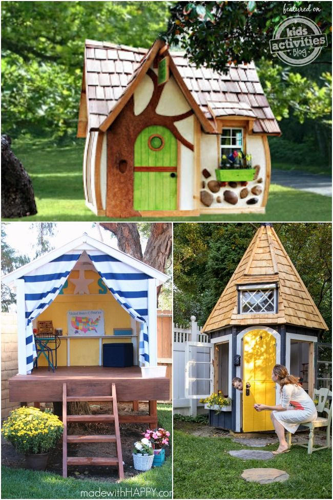 24 Outdoor Playhouses Kids Dream About Play Houses Playhouse Outdoor Outdoor Kids
