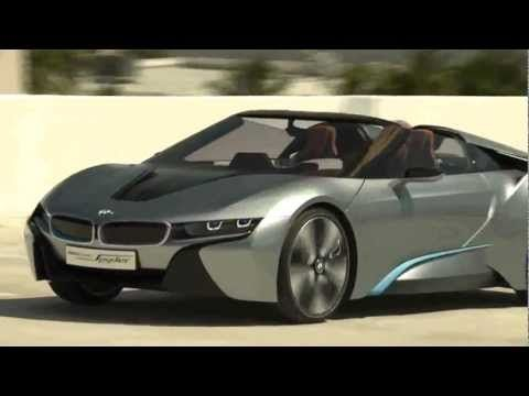 Bmw I8 Spyder Concept Driving Video With Electric Engine Sound