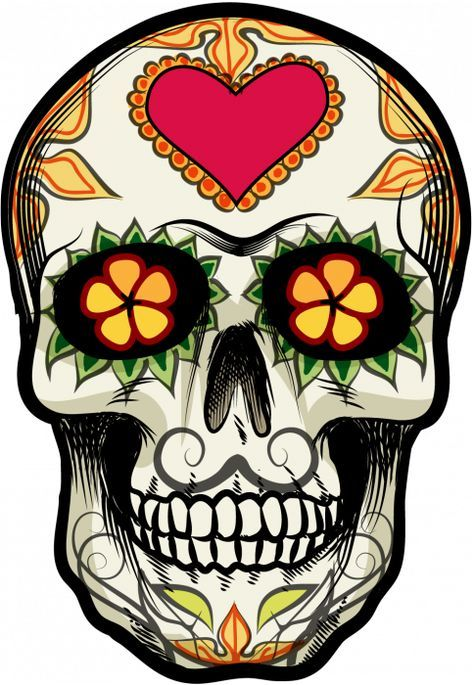 sticker calavera tete de mort mexicaine 18. Black Bedroom Furniture Sets. Home Design Ideas