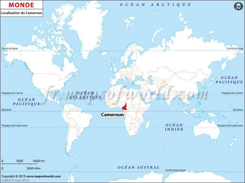 Où est Cameroun, carte de localisation, Where is Cameroun, location ...