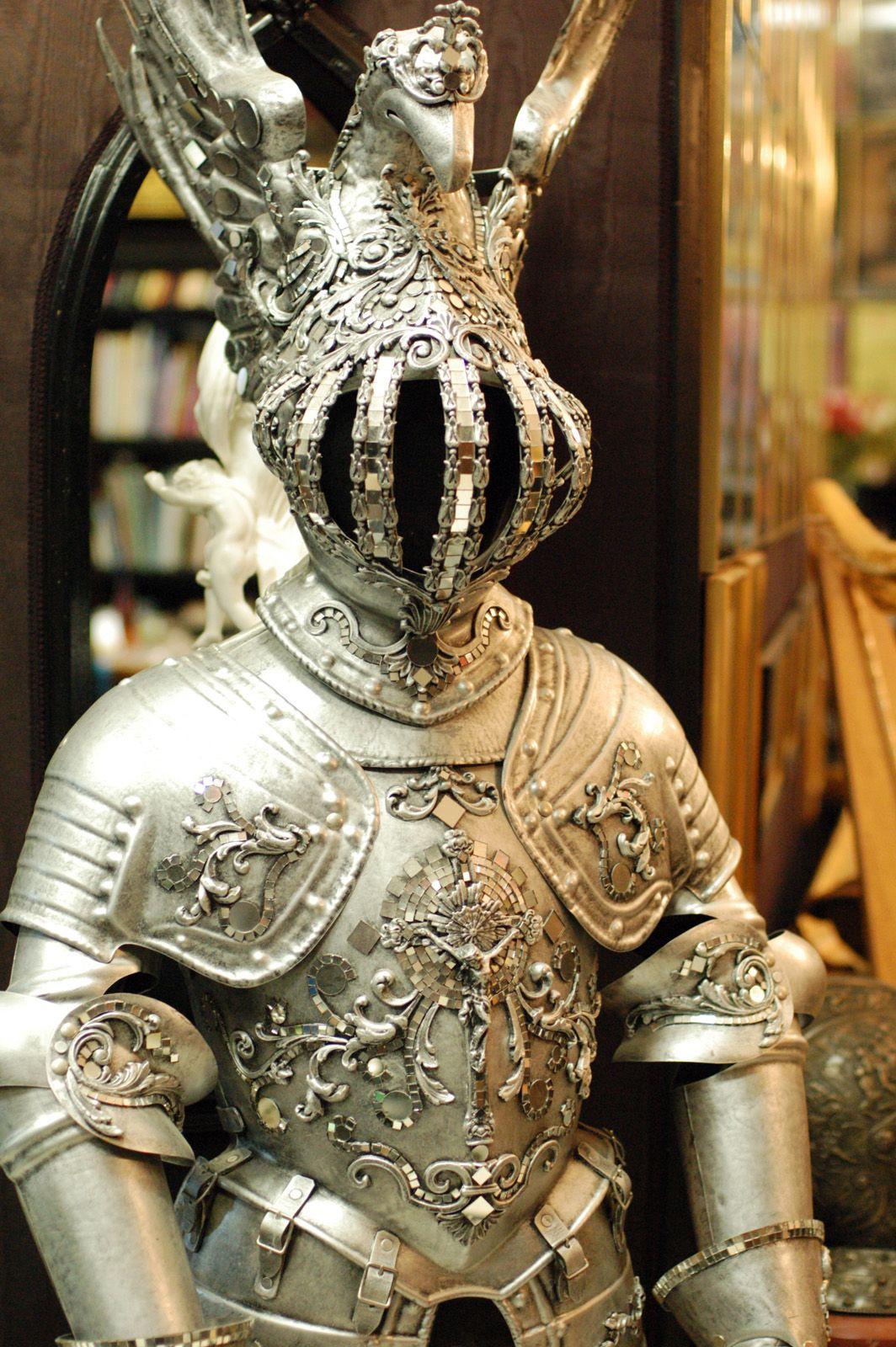 Knight Of The Mirrors Love The Helmet 중세 갑옷 패션 포스터 중세