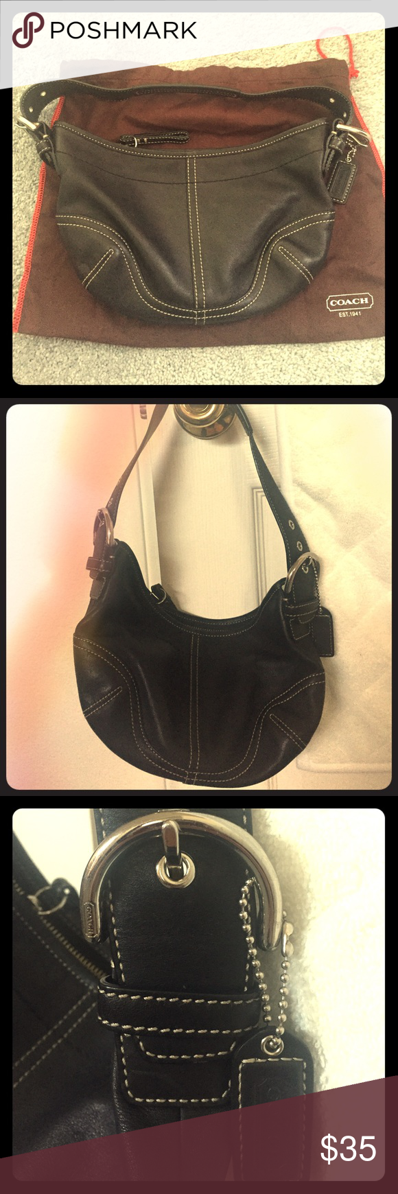 Coach small hobo purse Very cute and in great condition slightly used Coach small hobo Coach Bags Hobos